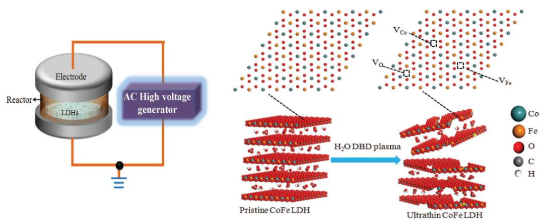 数据分析    剥脱法合成富缺陷LDH纳米片及其表征