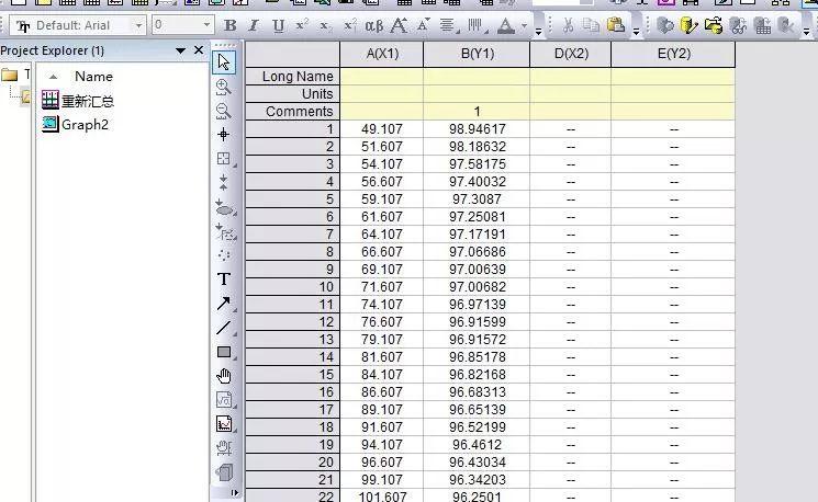 如何用origin求阶微分并绘数据图