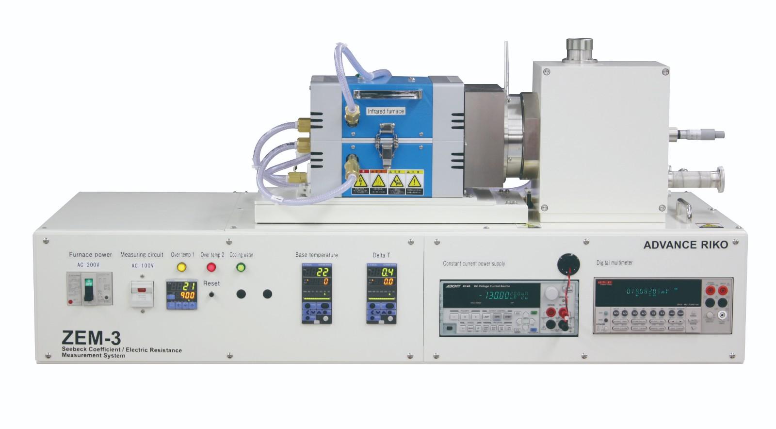 塞贝克系数与电阻率测试系统